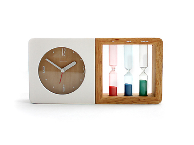 Three Hourglass Alarm Clock for $32