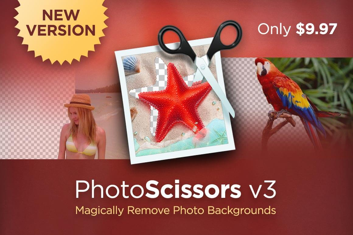 Remove Image Backgrounds with PhotoScissors version 3  – only $9.97!
