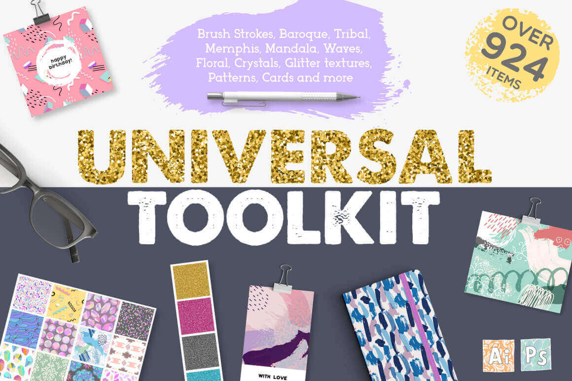Universal Toolkit of 900+ Graphic Elements with Extended License – only $7.50!