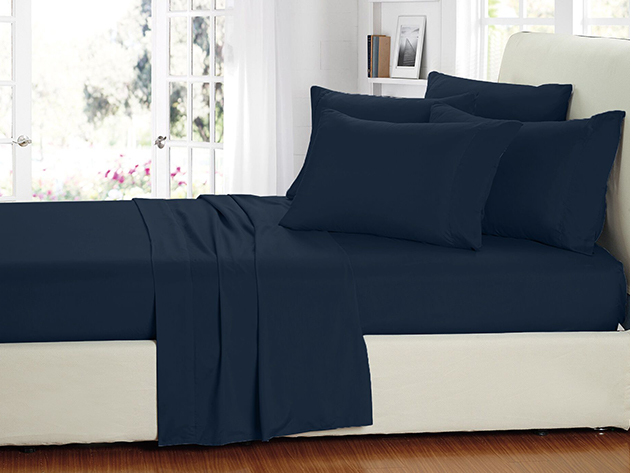 2000 Series Bamboo Fiber 6-Piece Sheets (Navy) for $39