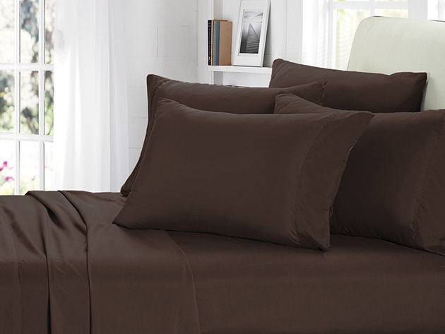 2000 Series Bamboo Fiber 6-Piece Sheets (Chocolate Brown) for $39