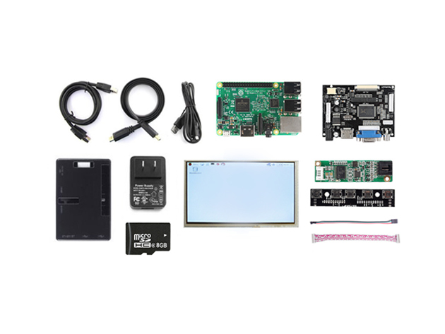 Raspberry Pi 3 Complete LCD Display Kit for $114