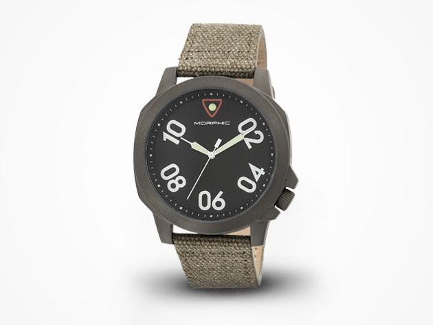 Morphic M41 Watch (Tan/Gunmetal) for $59
