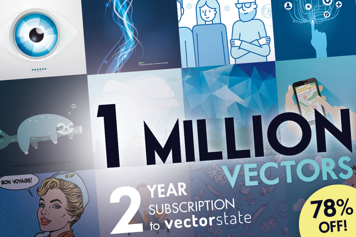2-Year Subscription to Vectorstate – Download 2400 Illustrations – 75% off!