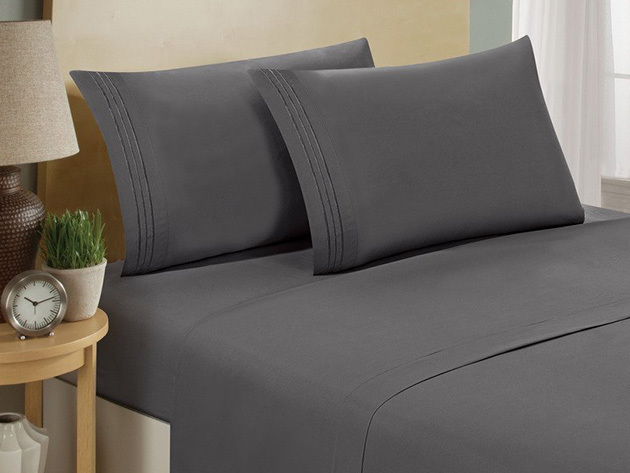 1800 Series Bamboo Extra Soft 4-Piece Sheet Set for $39