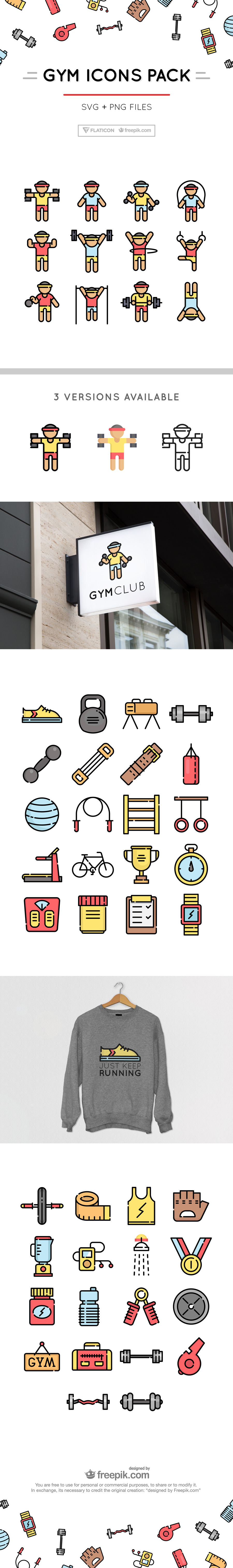 Celebrate Health With This Free Fitness Icons Pack