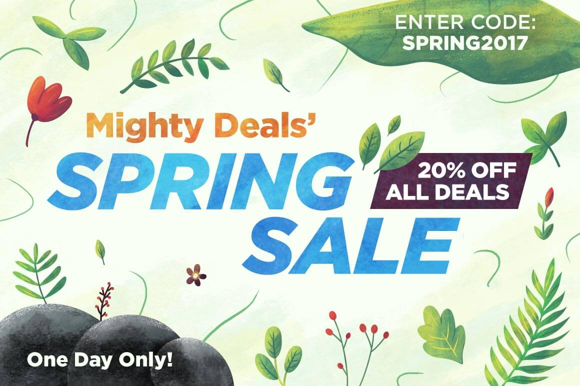 Mighty Deals' Spring Sale – 20% off ALL DEALS – One day only!