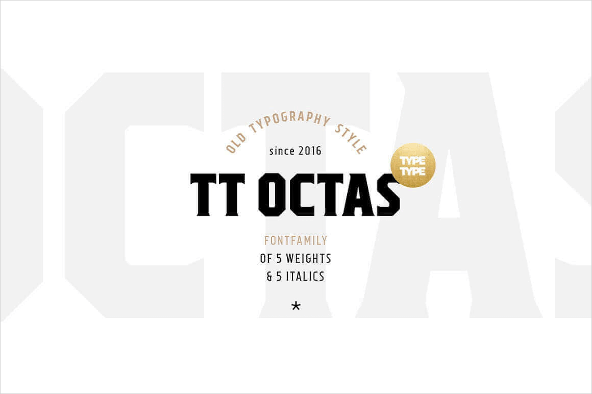 TT Octas Family of 10 Octagonal Fonts from Typetype – only $9!