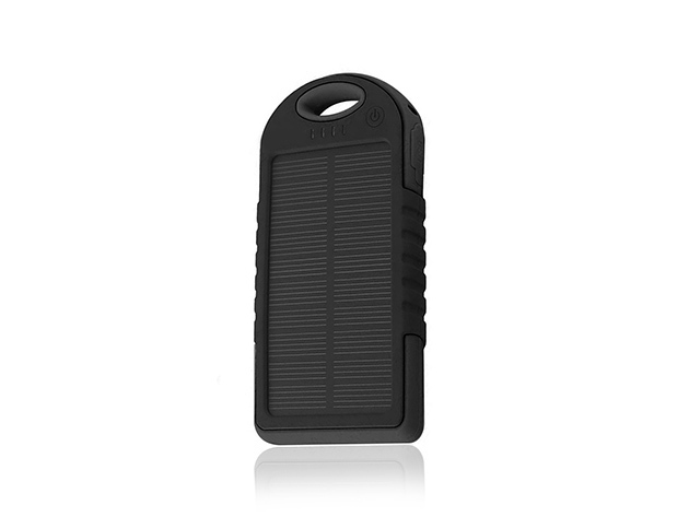 Water-Resistant Dual-USB Solar Charger for $15