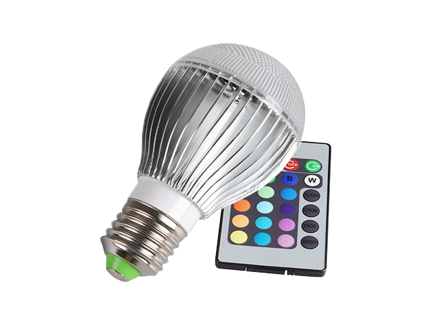 Color-Changing LED Globe Bulb with Remote for $19