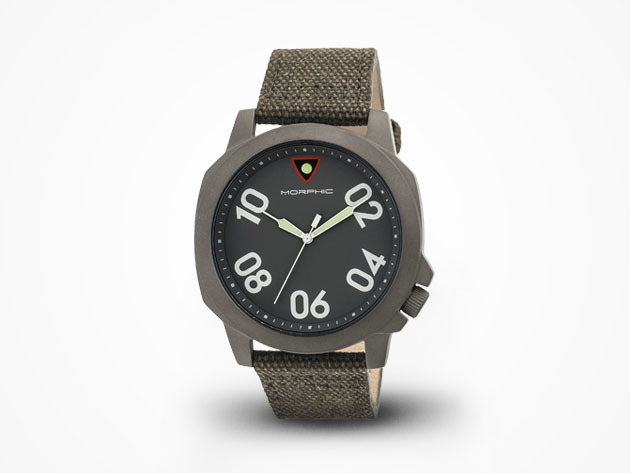 Morphic M41 Watch (Olive/Gunmetal) for $59