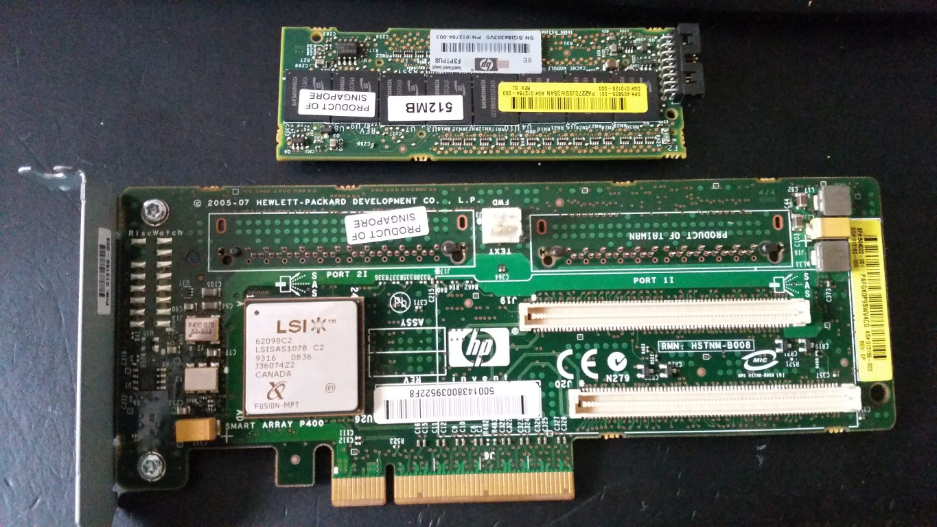 DL380G ARRAY CONTROLLER MEMORY MODULE REMOVED FROM RAID CONTROLLER