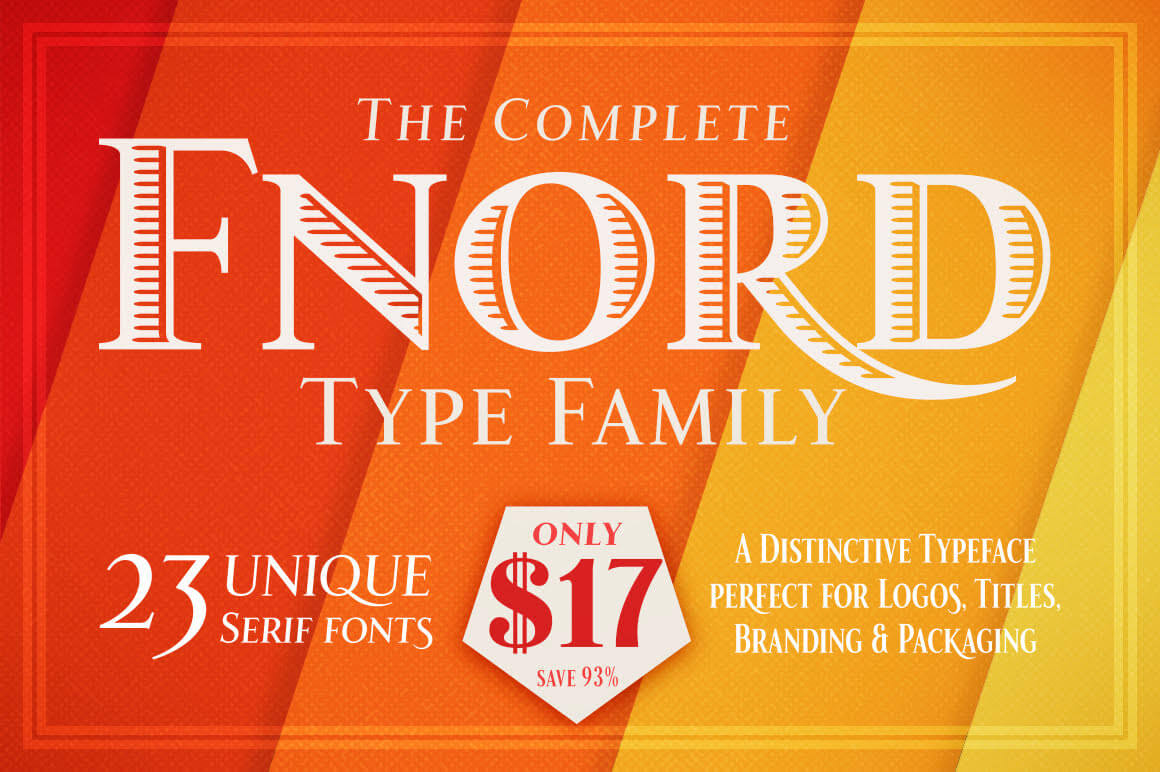 Fnord Type Family of 23 Unique Fonts – only $17!