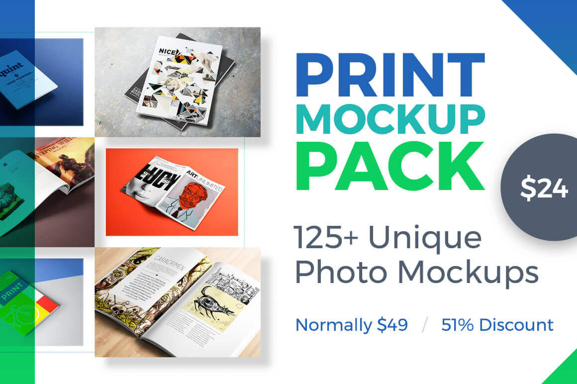 PRINT Mockup BUNDLE: 125+ Unique Photo Mockups – only $24!
