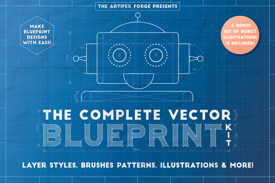 The Complete Vector Blueprint Kit from The Artifex Forge – only $9!