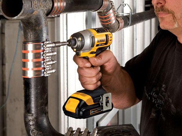 DeWalt 20V Compact Hammer Drill & Impact Driver Kit + Drill Bit Set for $279