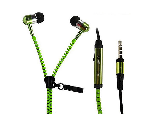 No Tangle Zippered Earbuds for $18