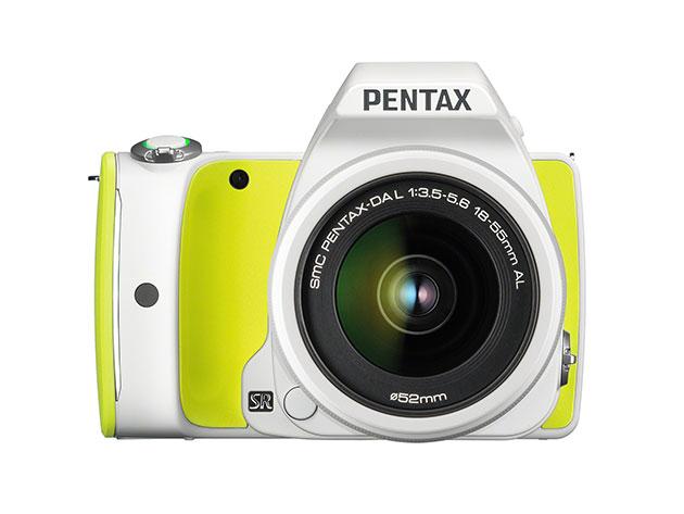 Pentax K-S1 DSLR Camera + 18-55mm Lens Kit & 16GB WiFi SD Card (Lime Pie) for $299
