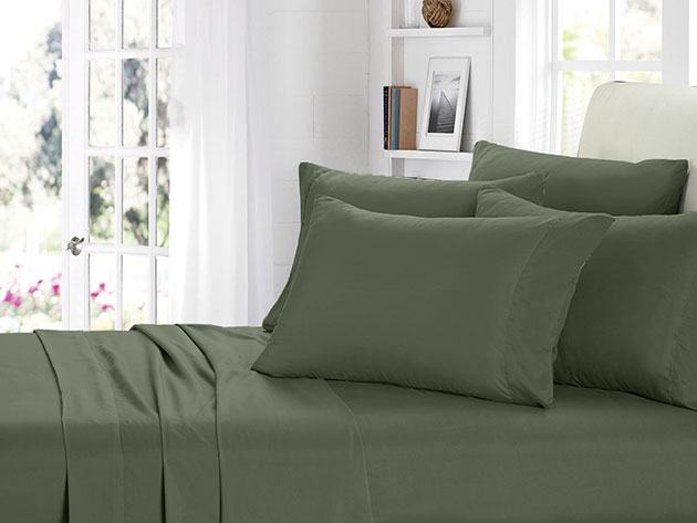 2000 Series Bamboo Fiber 6 Piece Sheets Sage For 39