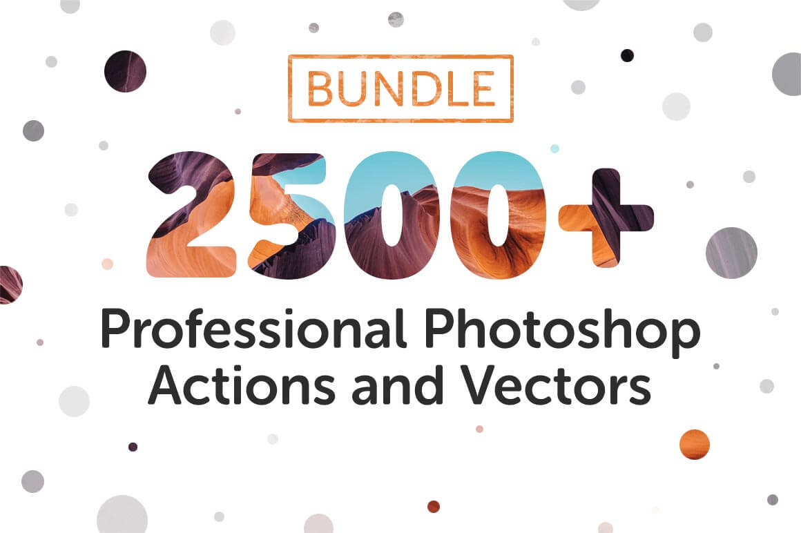 Bundle: 2500+ Professional Photoshop Actions and Vectors – only $17!