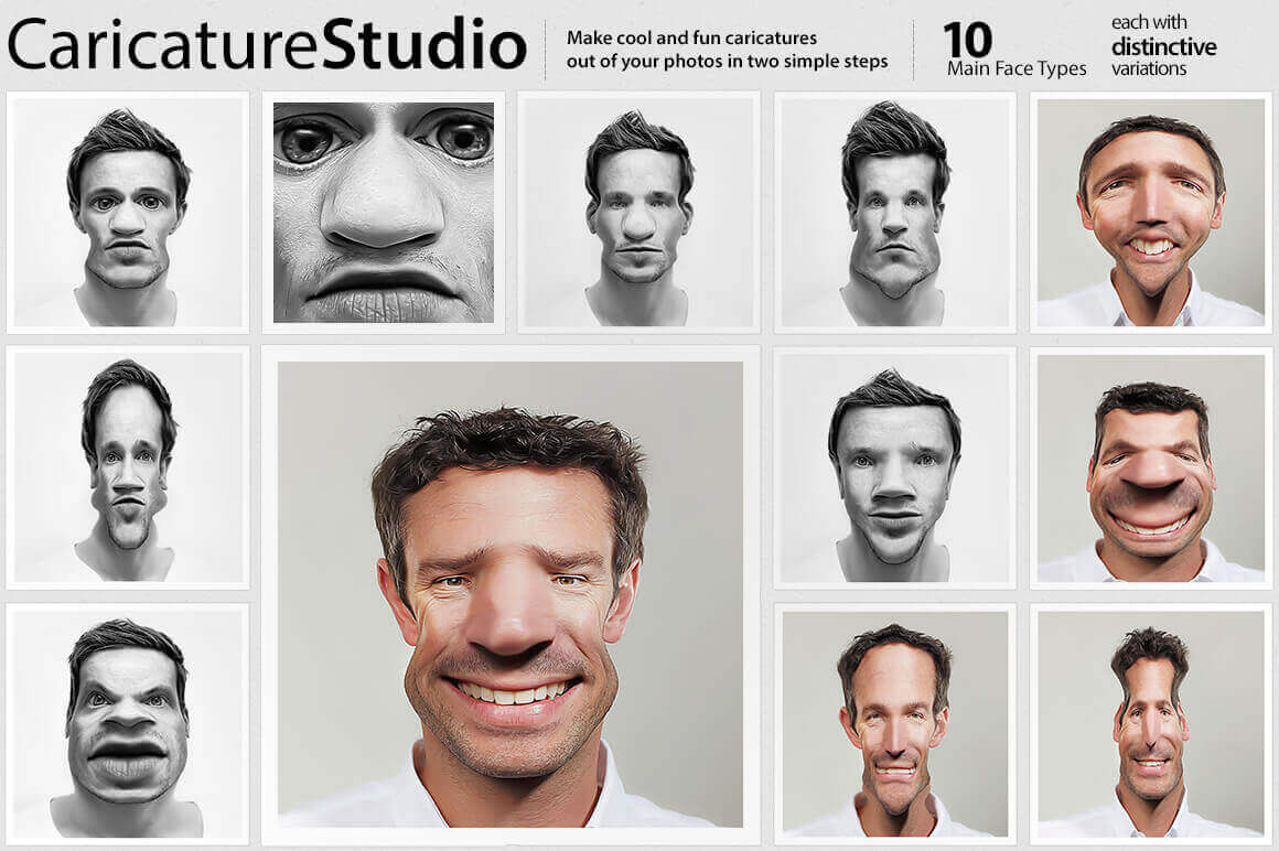 EXCLUSIVE! Create Up to 40 Caricatures from 1 Image with CaricatureStudio – only $5!