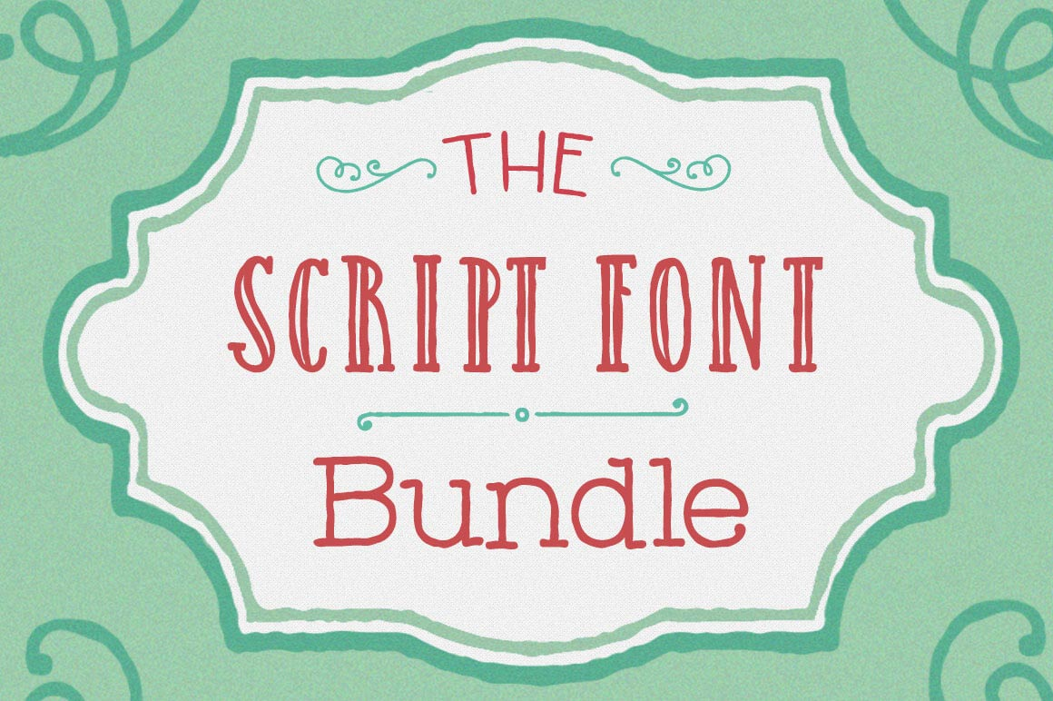 EXCLUSIVE Script Font Bundle: 10 Gorgeous Fonts - only $27!