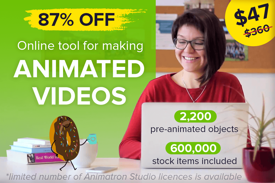 LAST CHANCE: Create Animated Videos and Whiteboard Animations with Animatron – 87% off!