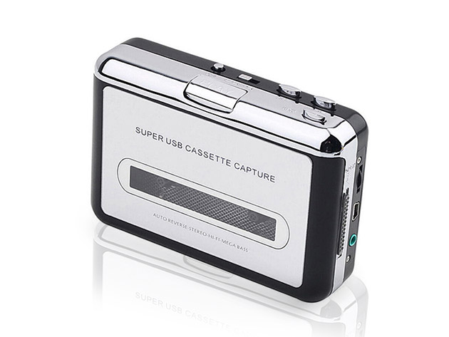 2 in 1 Audio Cassette to MP3 Converter for $43
