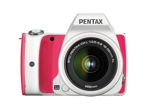 Pentax K-S1 DSLR Camera + 18-55mm Lens Kit & 16GB WiFi SD Card (Strawberry Cake) for $299