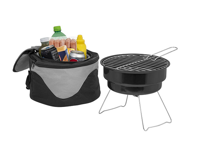 The Backyard Portable Barbecue Grill & Cooler Combo for $19