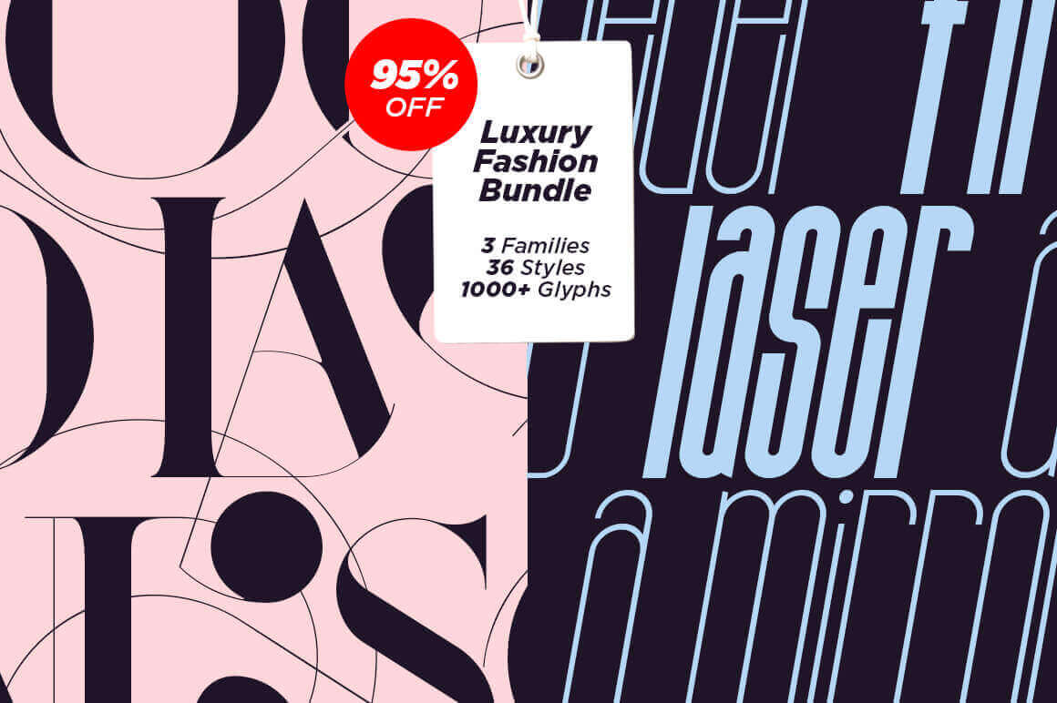 36 Luxurious Fashion Magazine Fonts – only $17!