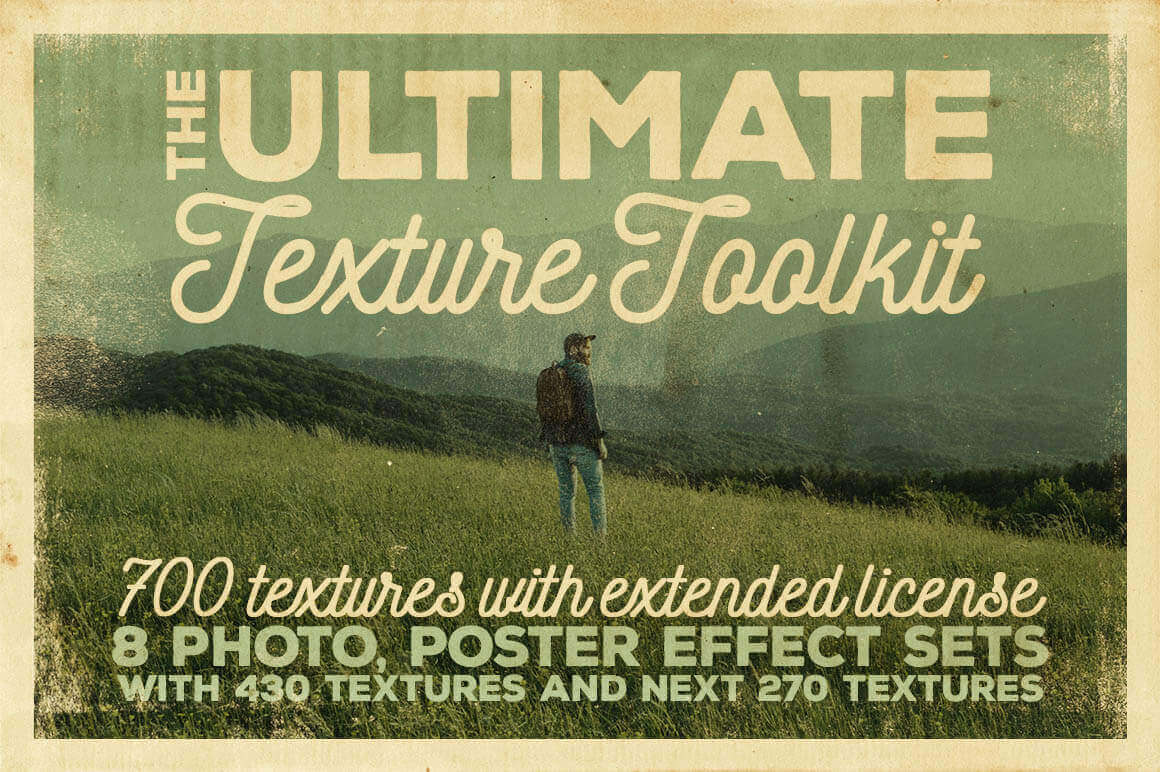 700 Professional Textures and Backgrounds in The Ultimate Texture Toolkit – only $14!