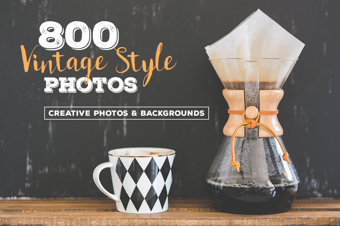 800 High-Resolution Retro/Vintage Style Photos from Cruzine – only $14!