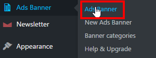 Ad Banner Manager - Page