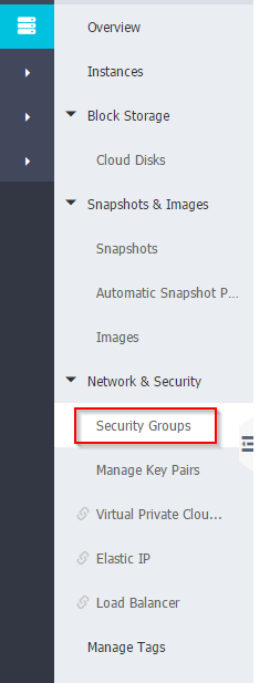 Business Legions Alicloud - Instance Security Group