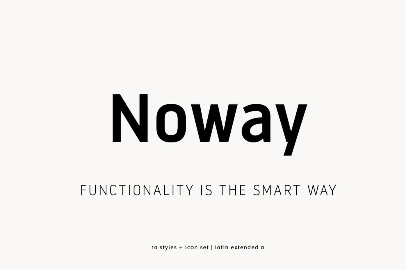 Free Download: Noway Regular & Italic