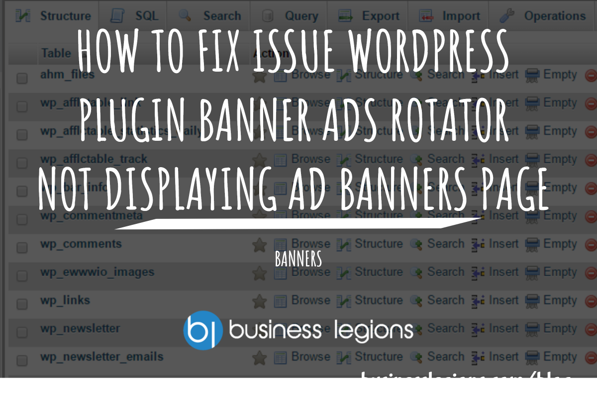 HOW TO FIX ISSUE WORDPRESS PLUGIN BANNER ADS ROTATOR NOT DISPLAYING AD BANNERS PAGE