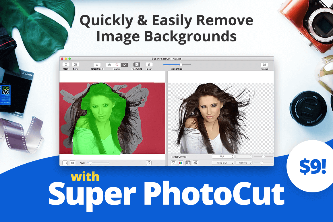 Quickly and Easily Remove Image Backgrounds with Super PhotoCut for Mac – only $9!