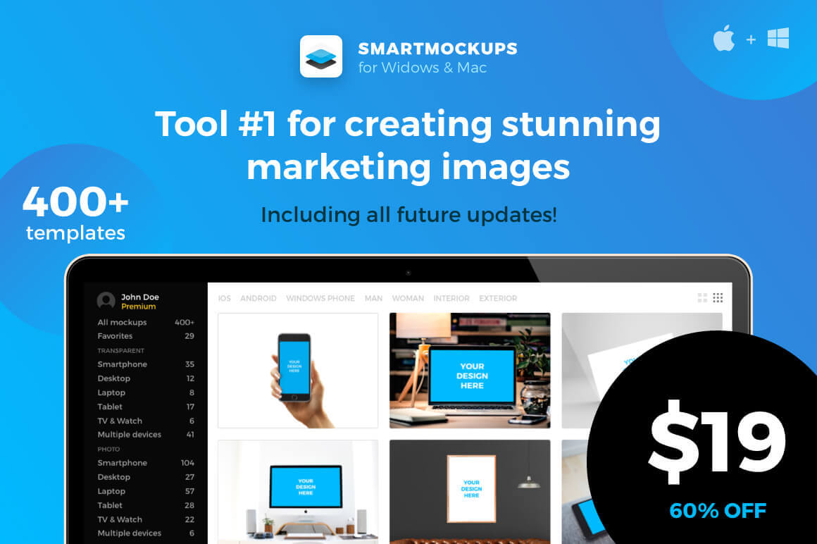 Smartmockups App: The #1 Tool for Creating Stunning Marketing Images – only $19!