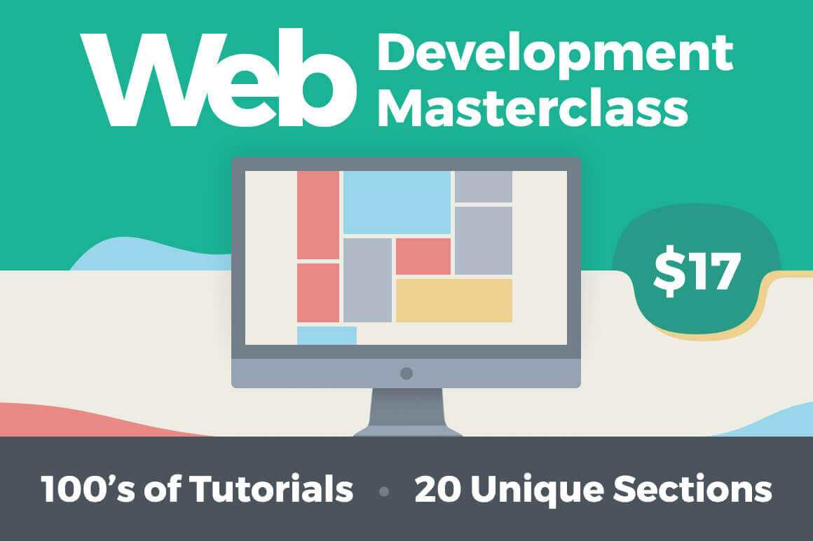 Web Development Masterclass: 100s of Tutorials, 20 Unique Sections – only $17!