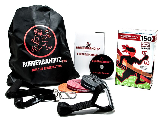 Rubberbanditz Gym-in-a-Bag Kit for $44