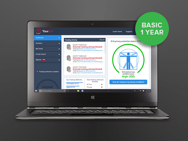 TrackOFF Privacy Software for Windows for $14