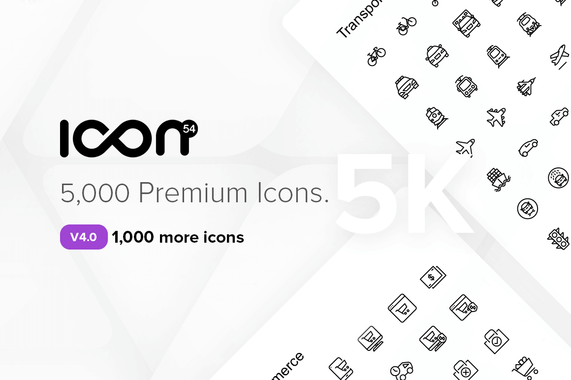 5,000+ Pixel-Perfect Icons from Icon54 – only $24!