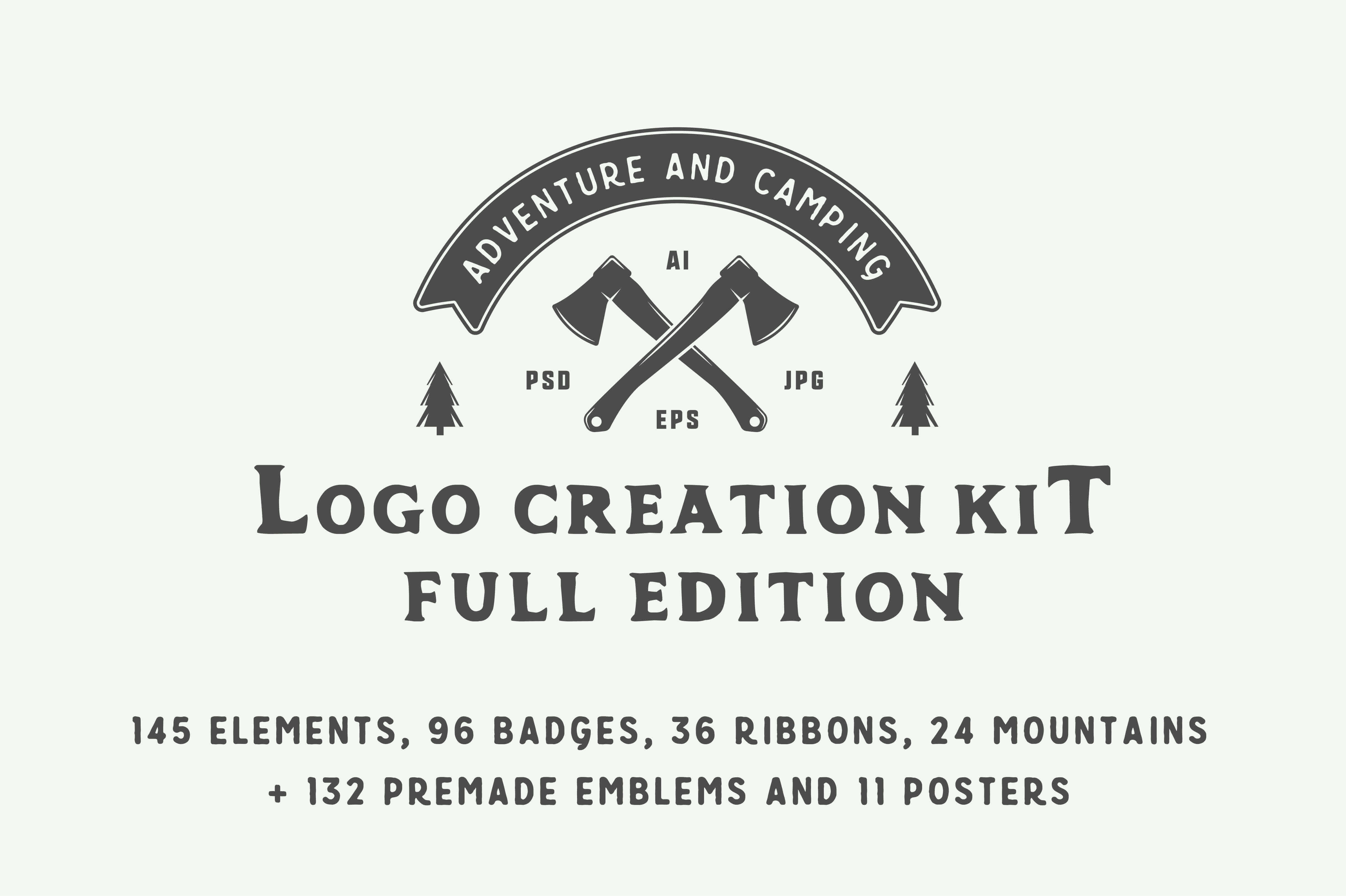Adventure and Camping Logo Creation Kit – only $14!