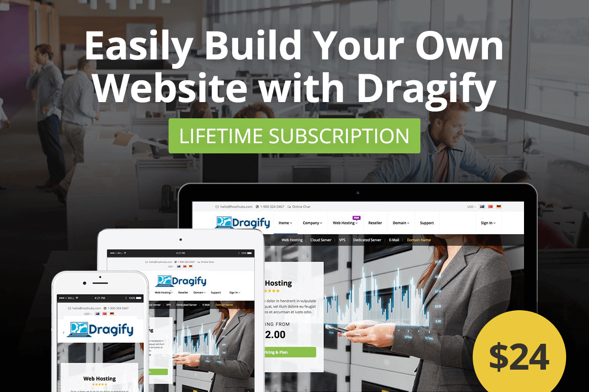 Easily Build Your Own Website with Dragify – only $24!