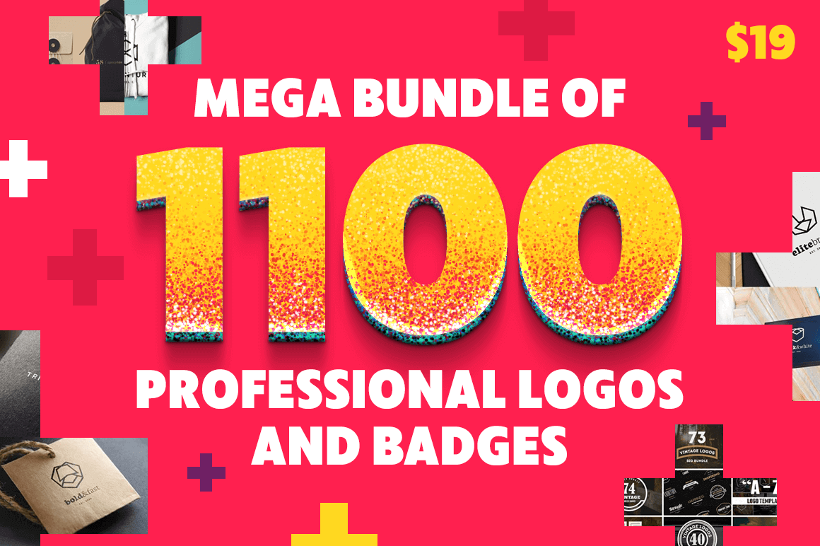 Mega Bundle of 1100 Professional Logos and Badges – only $19!