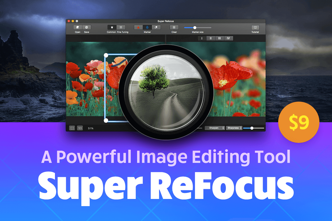 Super ReFocus, A Powerful Mac Image Editing Tool – only $9!