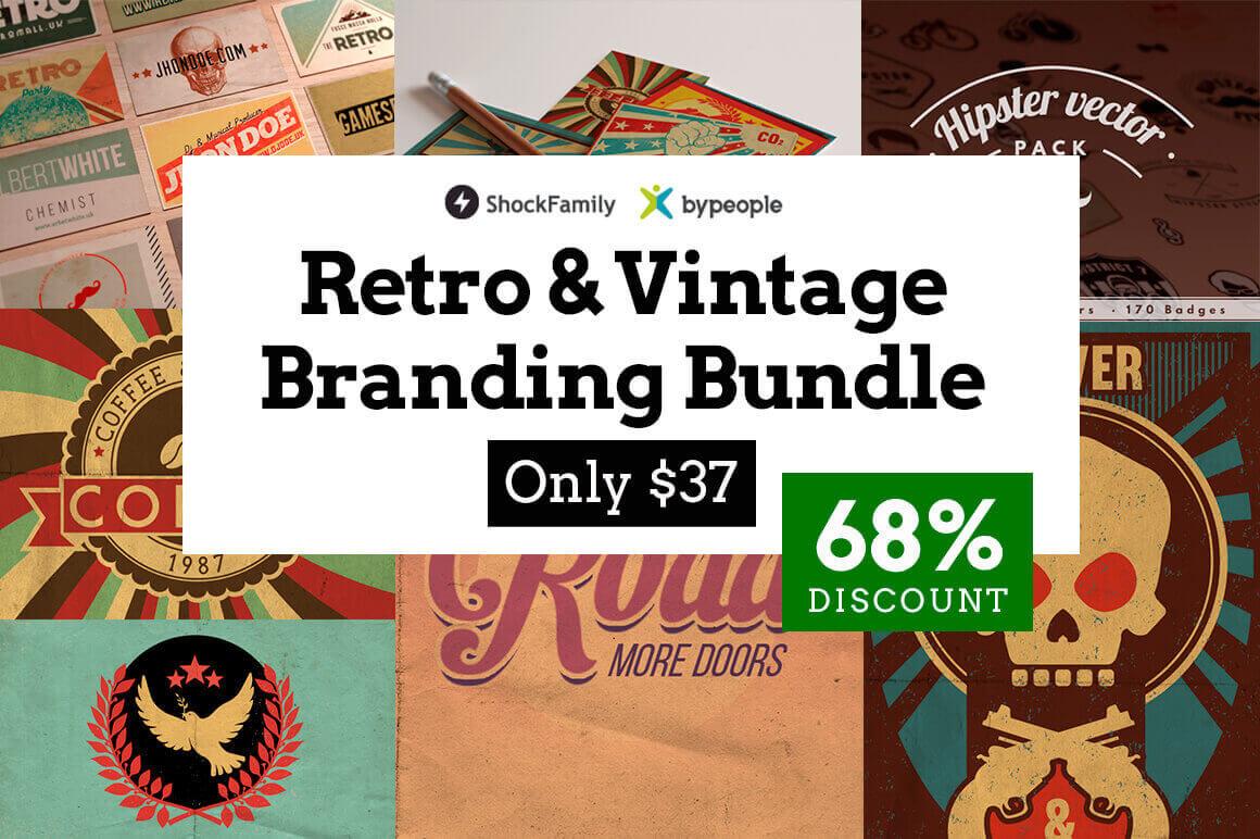 2000+ Professional Retro & Vintage Design Elements – only $37!