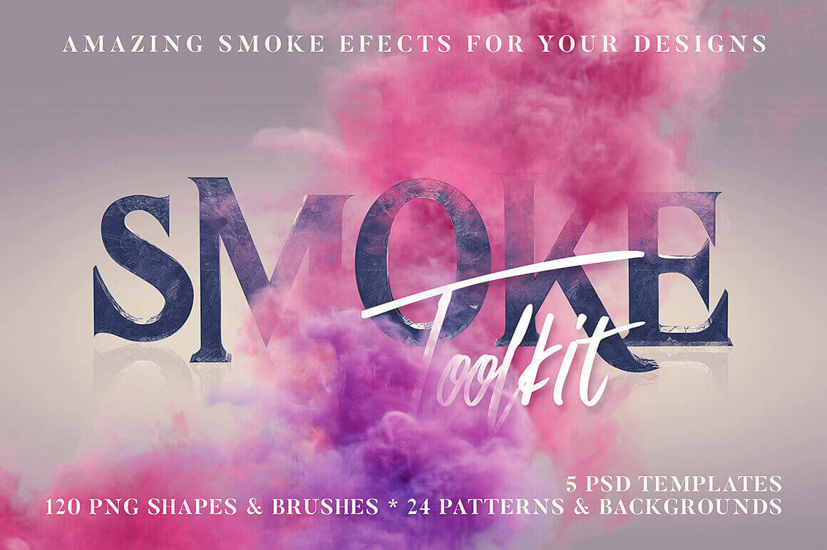 250+ Smoke Effects Including Shapes, Brushes, Patterns and More – only $14!