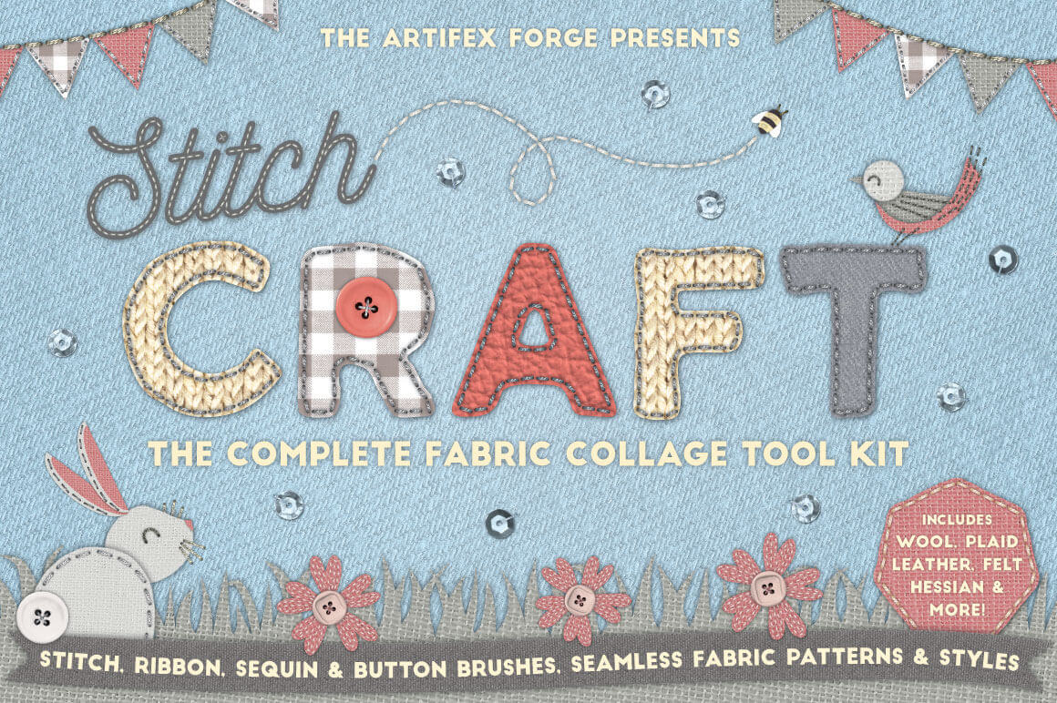 CRAFT KIT: Create Authentic Hand-Stitched Designs – only $12